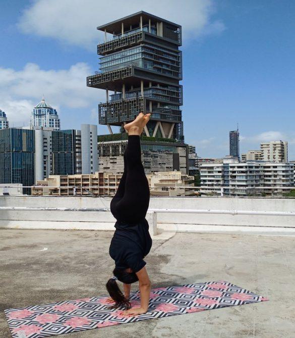 Shyna Setalvad in Handstand